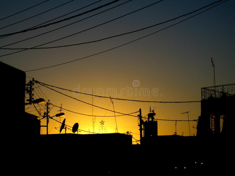 Cabos Puesta de sol con foto de stock