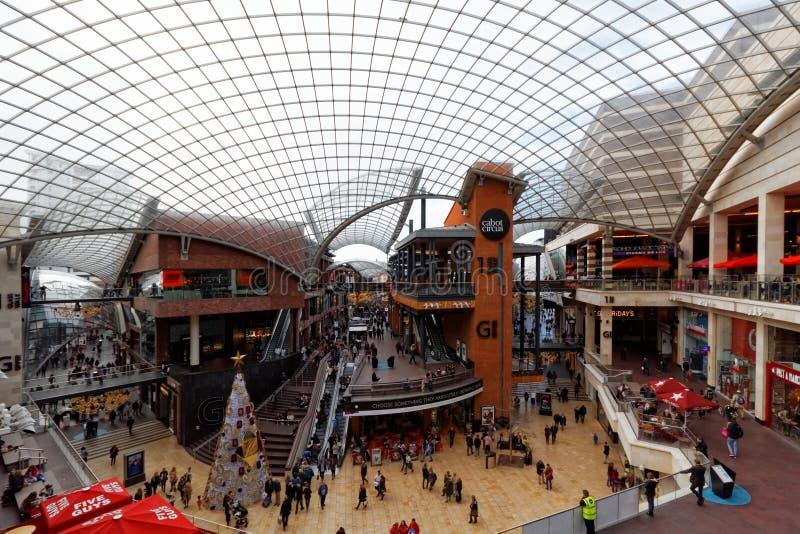 Cabot Circus Shopping Centre Bristol, England arkivbilder