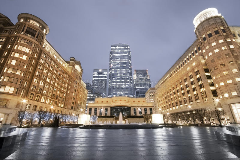 Download Cabot Square At Canary Wharf, London. Royalty Free Stock Photos - Image: 9417708