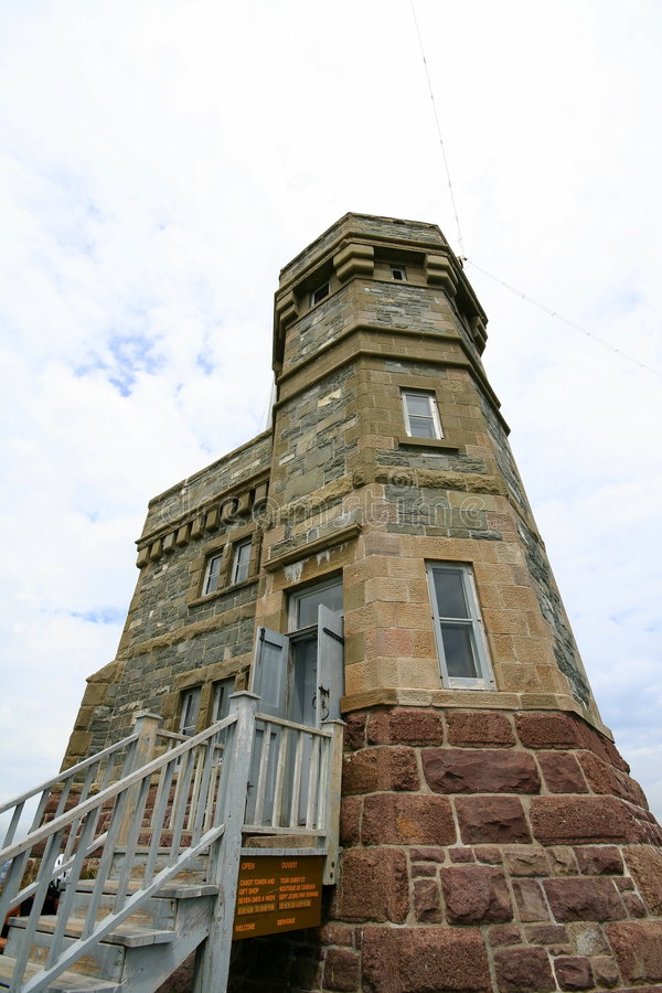 Cabot Tower. On Signal Hill in St. John's Newfoundland stock photo