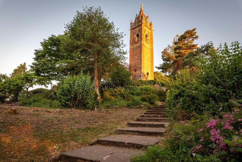 Cabot Tower Brandon Hill Bristol Regno Unito fotografia stock