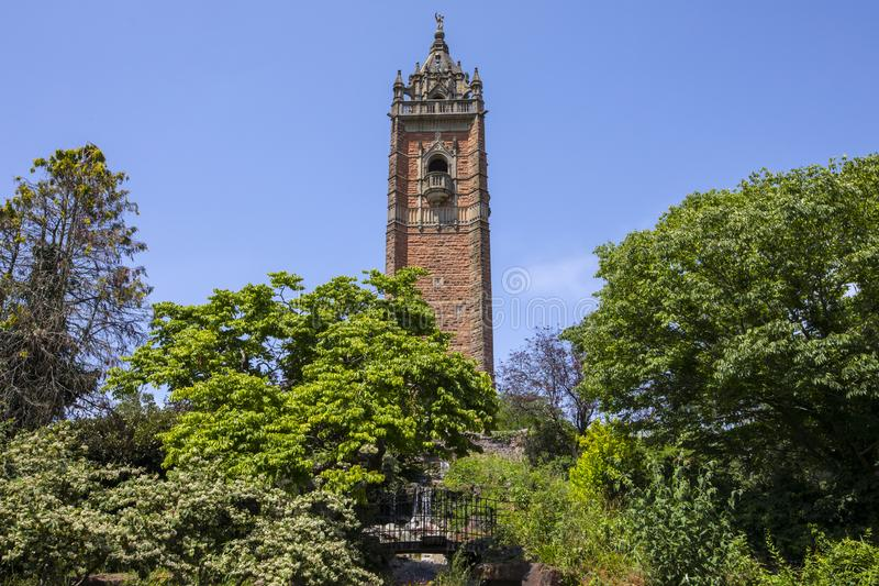 Cabot Tower in Bristol. A view of the historic Cabot Tower, located in Brandon Hill Park in the city of Bristol, UK stock photo