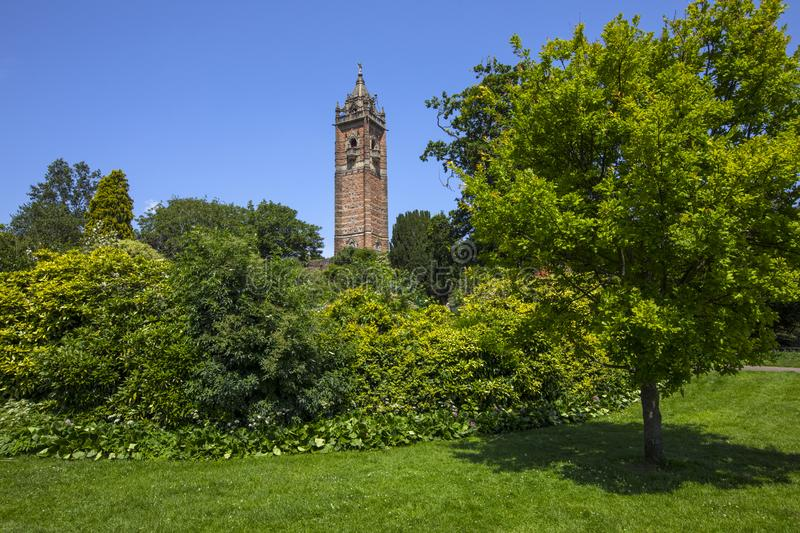Cabot Tower in Bristol. A view of the historic Cabot Tower, located in Brandon Hill Park in the city of Bristol, UK stock photography