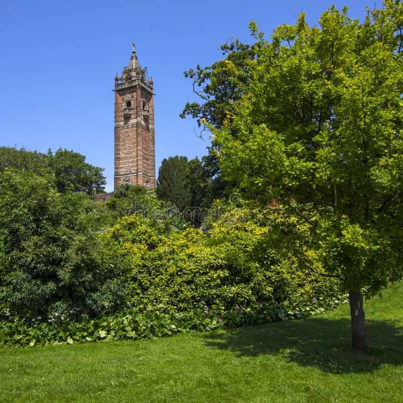 Cabot Tower in Bristol. A view of the historic Cabot Tower, located in Brandon Hill Park in the city of Bristol, UK stock image