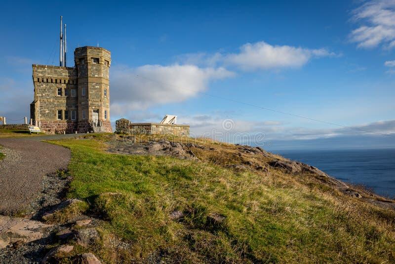 Cabot Tower, colina de la señal, Terranova y Labrador históricos imagen de archivo libre de regalías