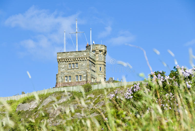 Cabot Tower, Signal Hill. View of the Cabot Tower, Signal Hill, from below stock photos