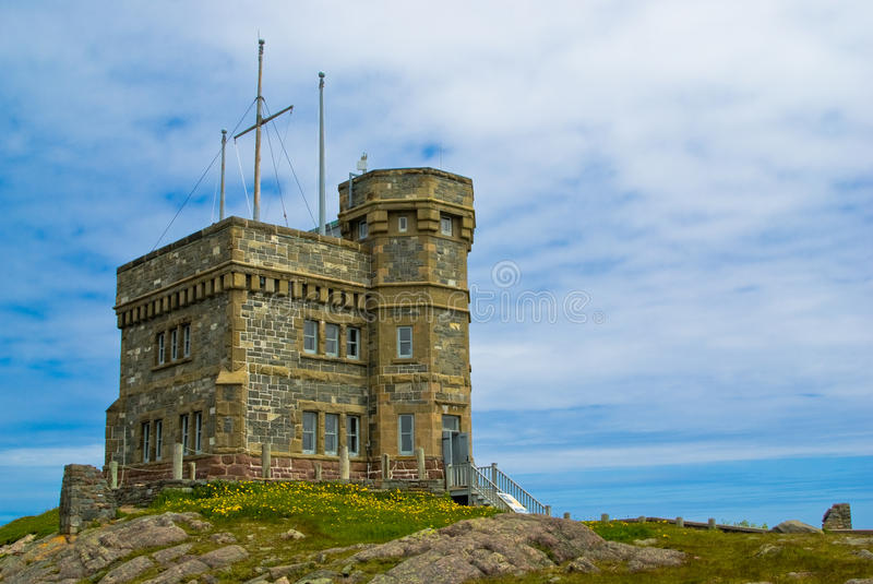 Cabot Tower, St-John's. Cabot Tower on Signal Hill, St. John's, Newfoundland royalty free stock image