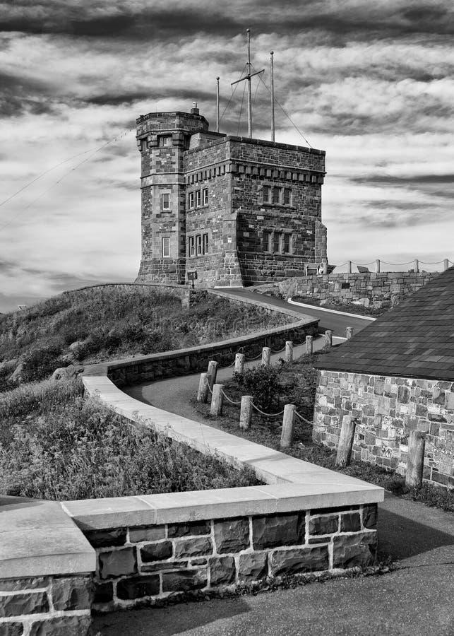 Cabot Tower sulla collina del segnale in Terranova fotografie stock libere da diritti