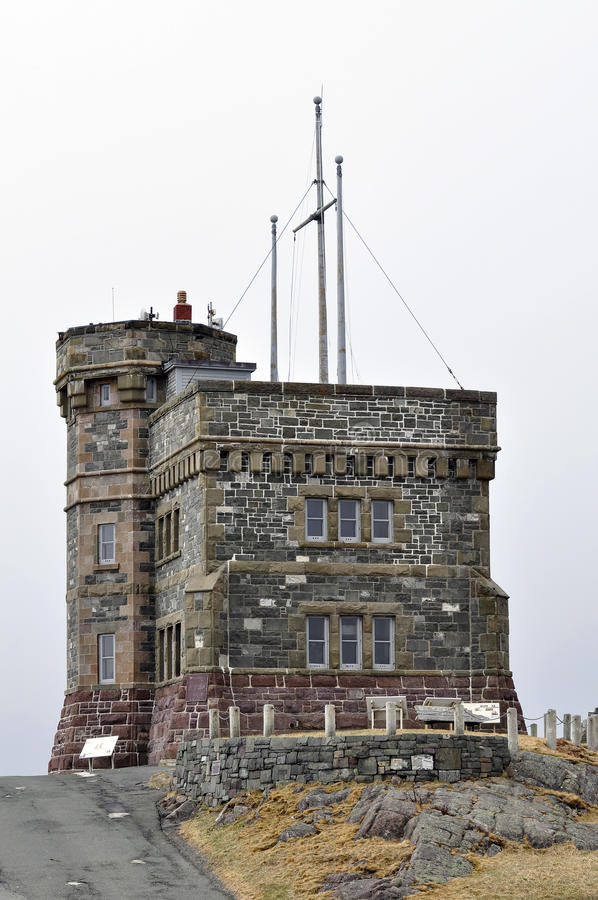 Cabot Tower, Terra Nova. fotografia de stock royalty free