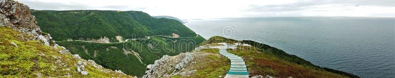 Cabot Trail - Bretonse Kaap - Canada stock afbeeldingen
