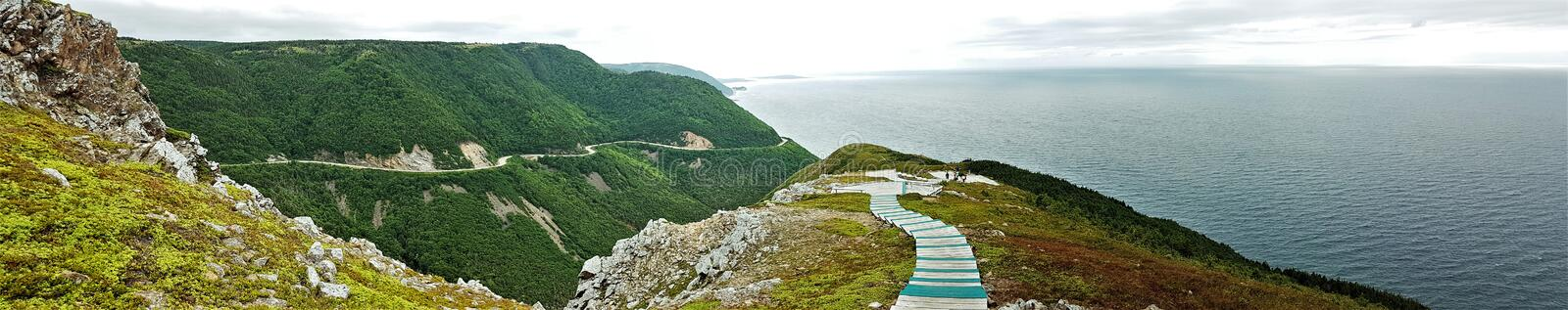 Cabot Trail - Cape Breton - Canada. Panoramic view from the Cabot Trail, Cape Breton, Canada stock images