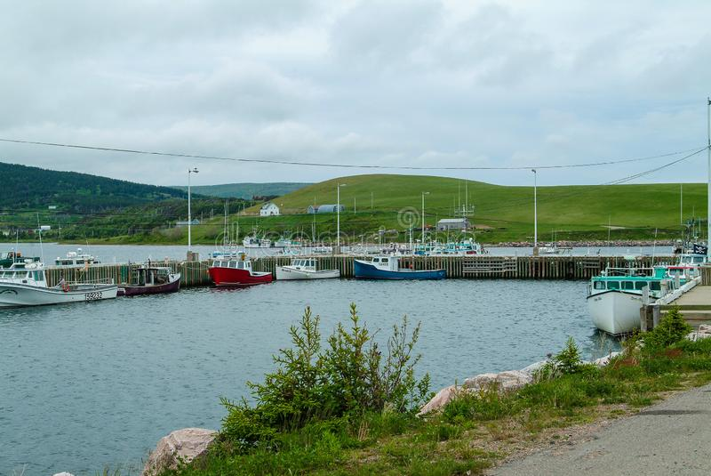 Cabot Trail Cape Breton Highland parkerar, Nova Scotia Canada royaltyfri bild