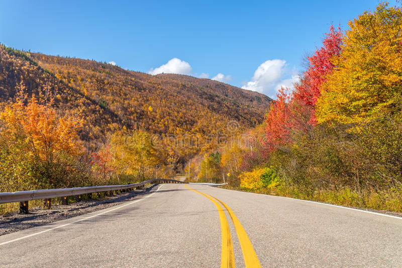 Cabot Trail Highway stock foto's