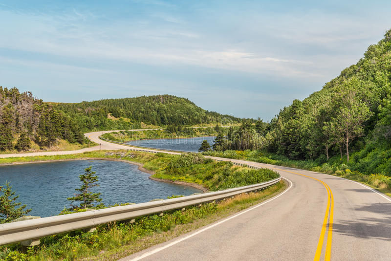 Cabot Trail Highway stock afbeelding