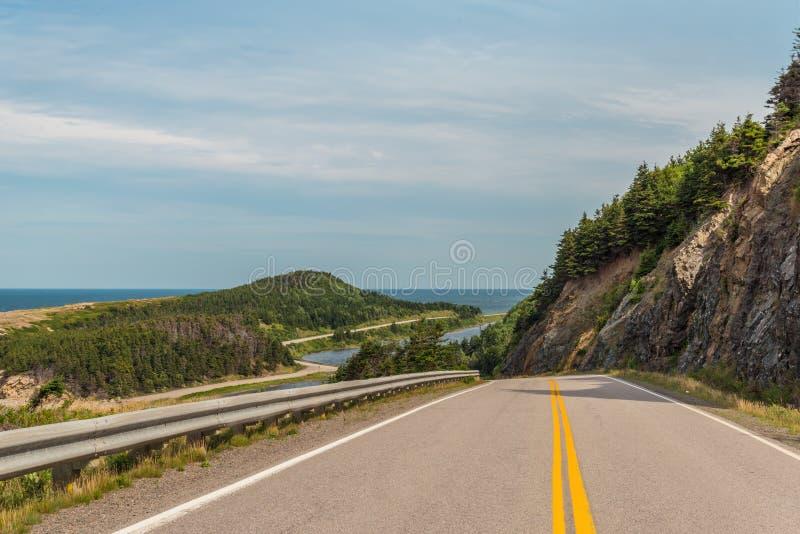 Cabot Trail Highway royalty-vrije stock fotografie