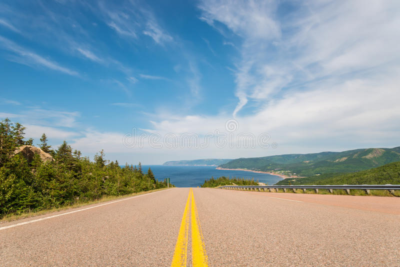 Cabot Trail Highway. (Cape Breton, Nova Scotia, Canada stock photography