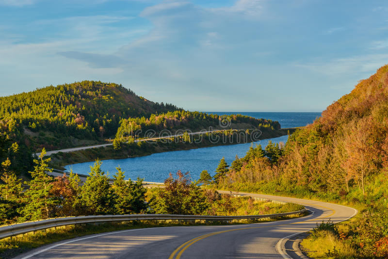 Cabot Trail Highway. Cape Breton, Nova Scotia, Canada royalty free stock images