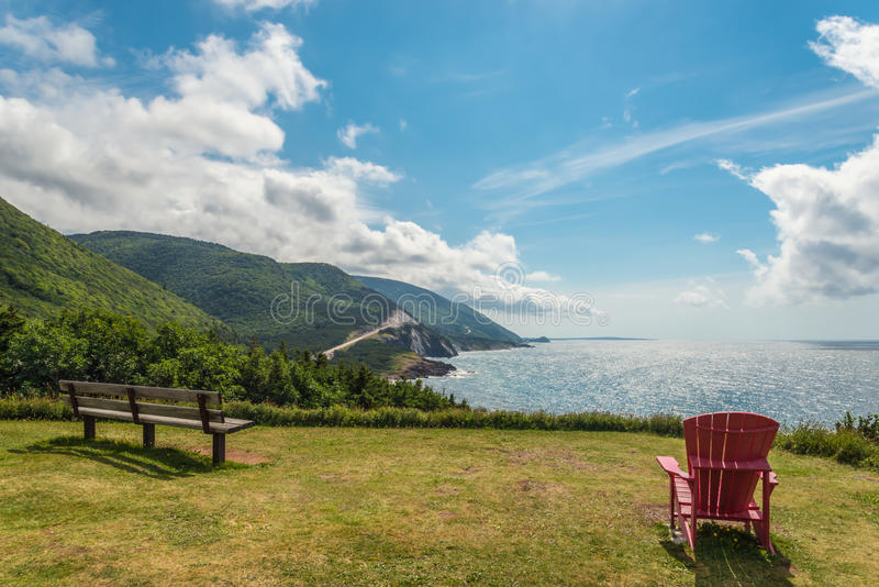 Cabot Trail look-off. (Cape Breton, Nova Scotia, Canada royalty free stock images