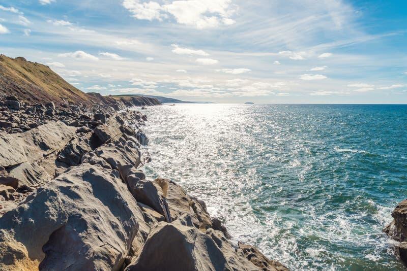 Cabot Trail Ocean-kust stock afbeelding