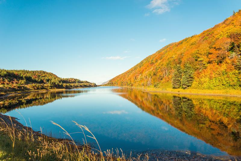 Cabot Trail Scenic-mening stock afbeelding