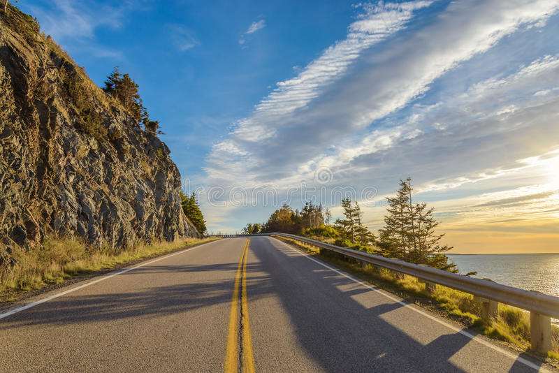 Cabot Trail Scenic-mening royalty-vrije stock foto