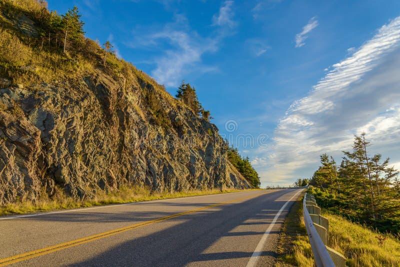 Cabot Trail Scenic-mening stock foto's