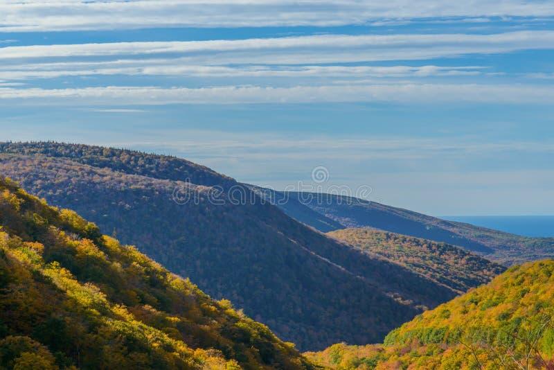 Cabot Trail Scenic-mening stock fotografie