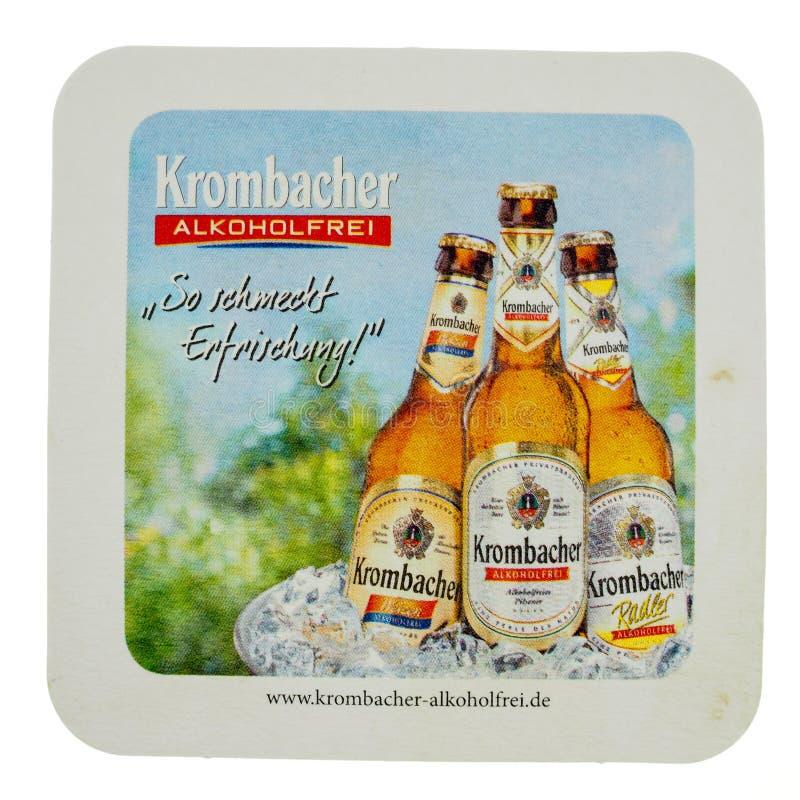 Caboteur de boissons de Beermat d'isolement photographie stock libre de droits