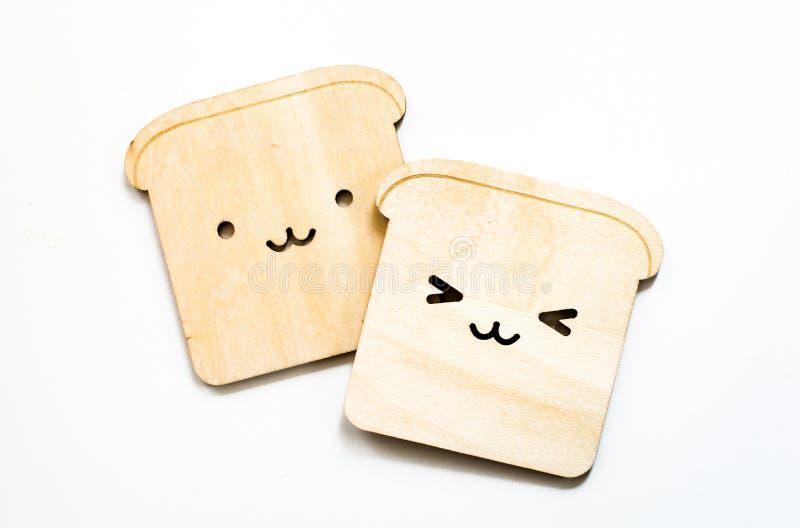 Caboteurs de pain d'isolement sur le fond blanc image libre de droits