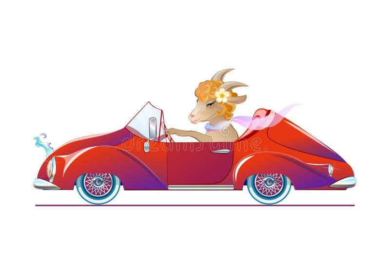 Cabra, Año Nuevo 2015 del símbolo libre illustration