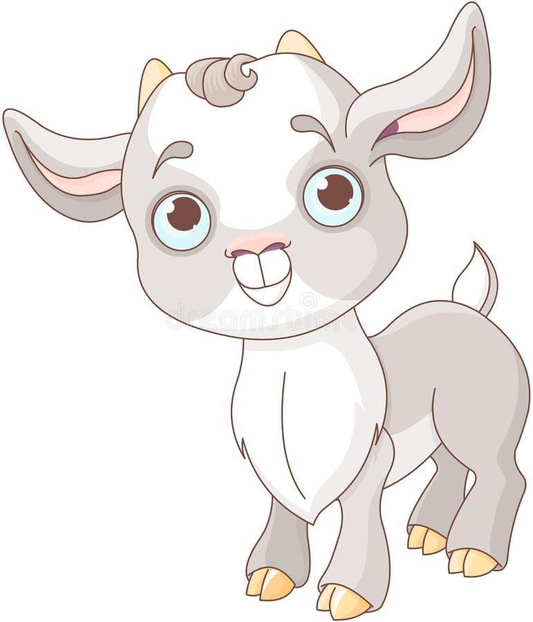 Cabra blanca y negra del bebé stock de ilustración