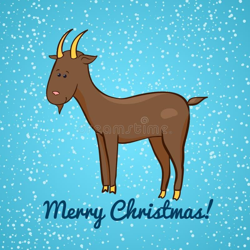 Cabra bonito bonita do vetor, símbolo do ano novo ilustração royalty free