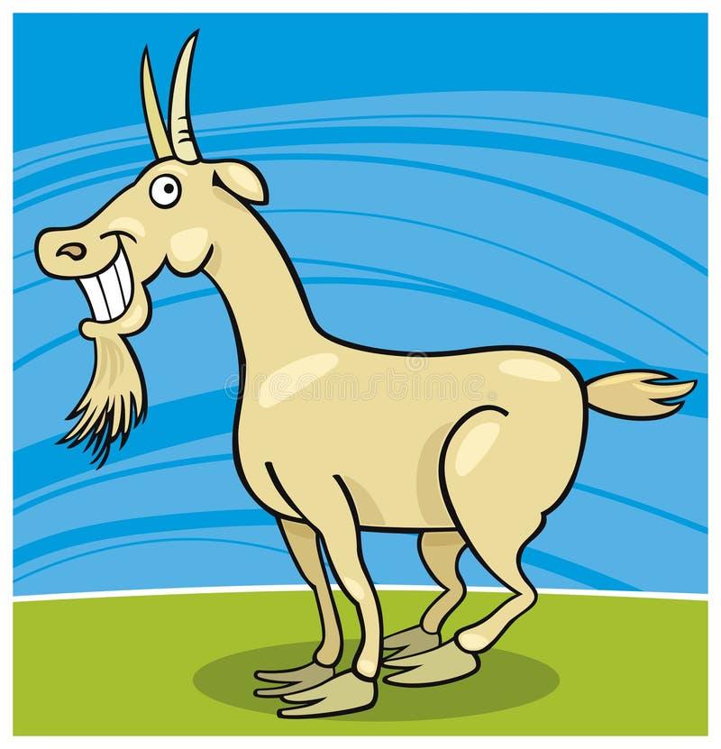Cabra com sorriso toothy ilustração do vetor
