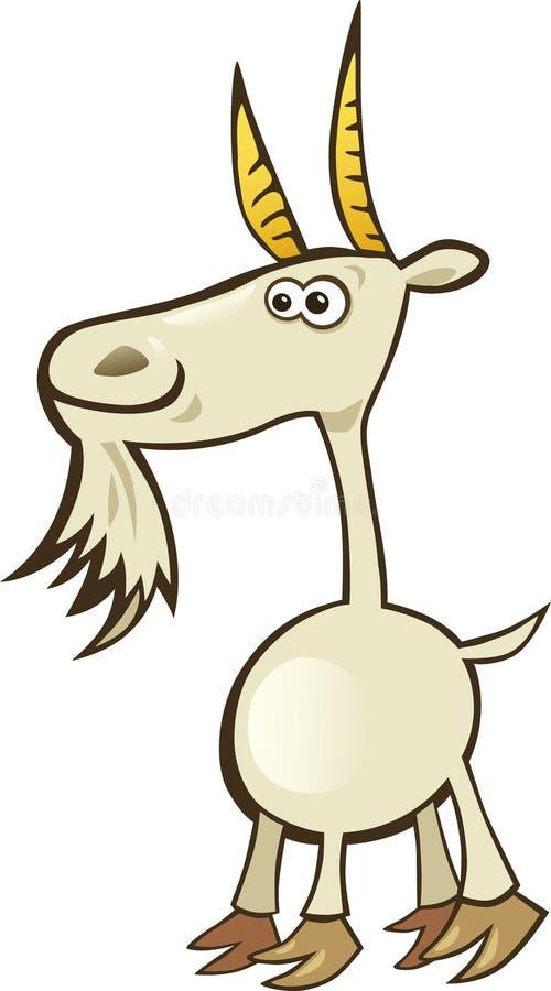 Cabra divertida stock de ilustración