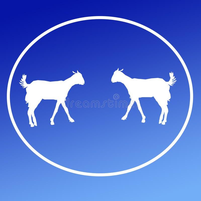 Cabra doméstica Logo Background Icon Graphics do gado ilustração do vetor