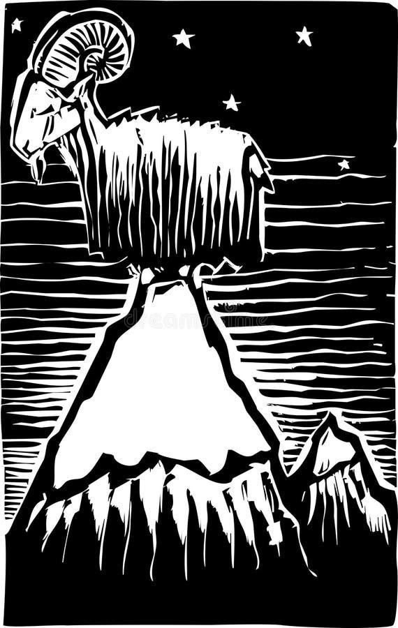 Cabra en la montaña libre illustration
