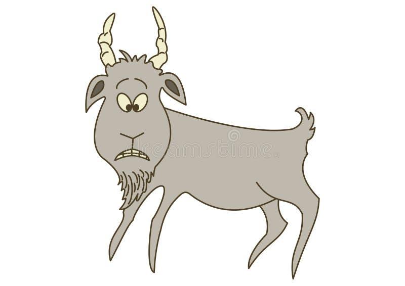 Cabra gris triste ilustración del vector