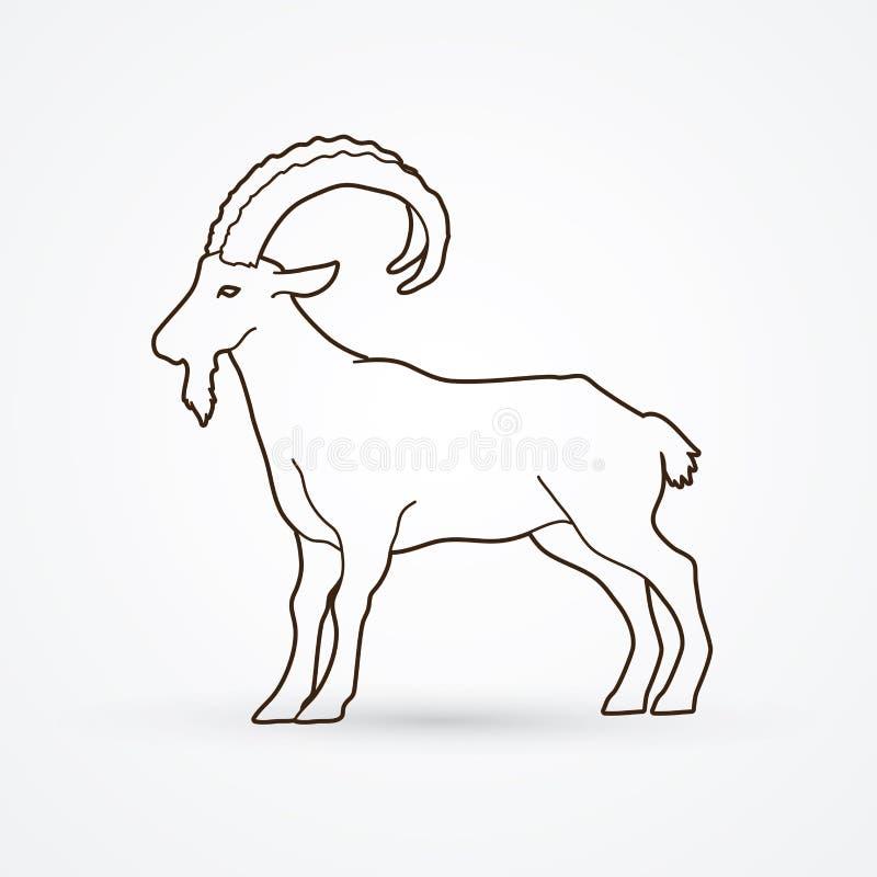 Cabra montés de la cabra libre illustration