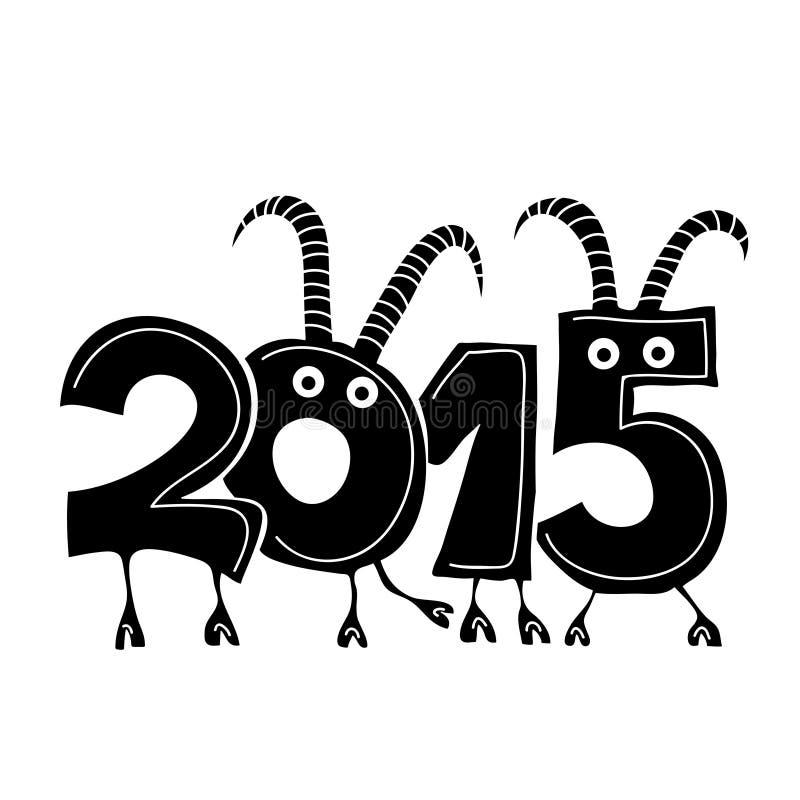 Cabra, o símbolo do ano novo ilustração do vetor