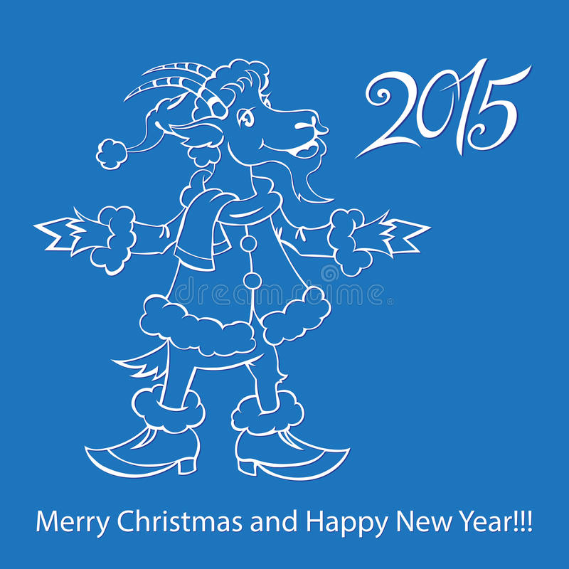 Cabra - símbolo 2015 - ilustração ilustração stock