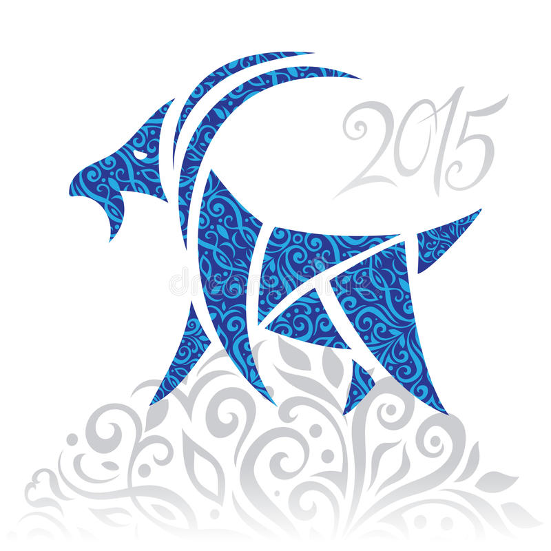 Cabra - símbolo 2015 - ilustração ilustração do vetor