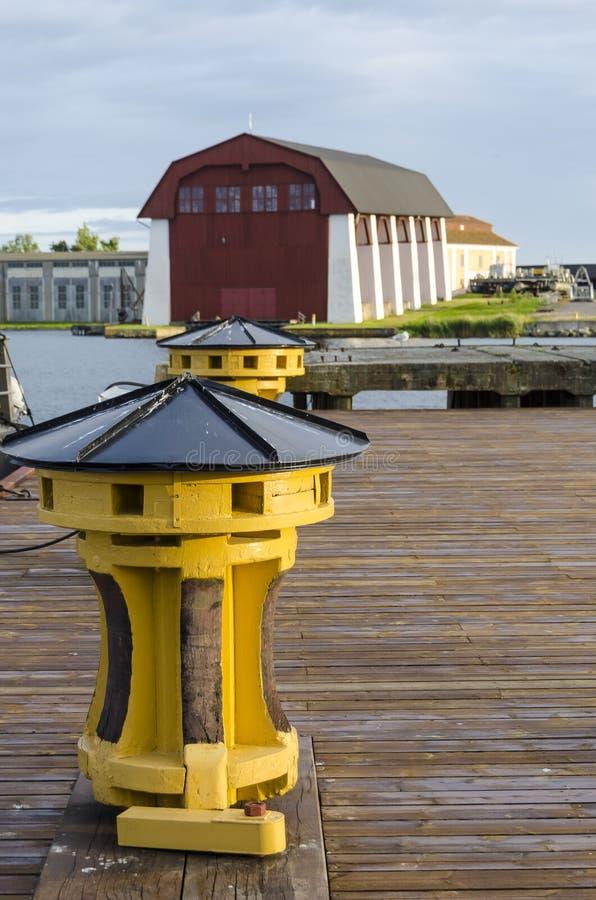 Cabrestante amarillo Karlskrona foto de archivo libre de regalías