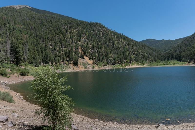 Cabresto Lake near Questa New Mexico. Cabresto Lake near Questa In New Mexico is part of the Carson National Forest royalty free stock images