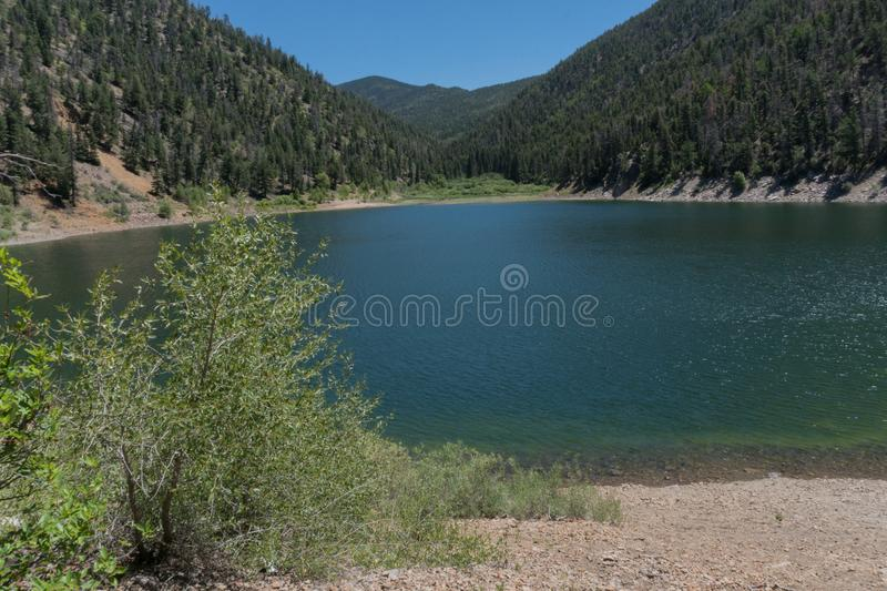 Cabresto lake in northern New Mexico. Cabresto lake,located in the Carson National Forest in northern New Mexico, provides recreation for many stock photography
