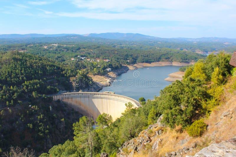 Cabril Dam royalty free stock image