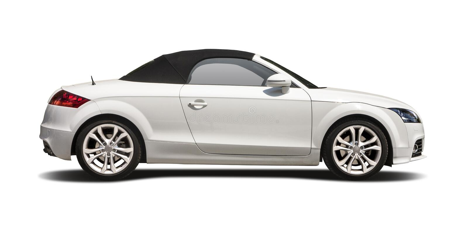 Cabrio Audi TT. Side view on white royalty free stock images