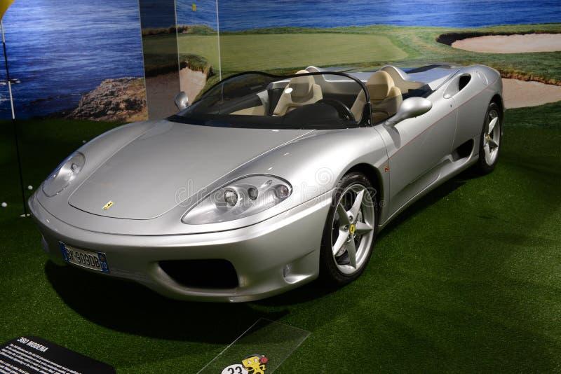 Cabrio Ferraris 360 Modena Auto stockfotografie
