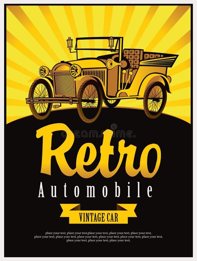 Cabriolé del coche del vintage libre illustration