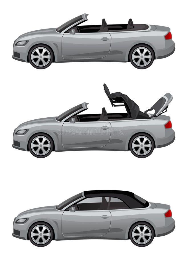 Cabriolet argenté illustration stock