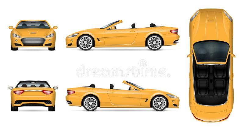 Cabriolet auto vectormodel stock illustratie